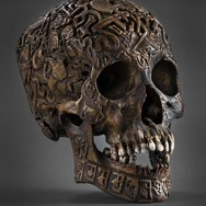 Tibetan Engraved Skull Artwork Cd Cover
